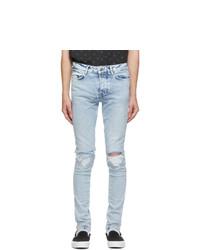 Ksubi Blue Van Winkle Overkast Sliced Jeans