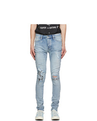 Ksubi Blue Van Winkle Punk Scribe Jeans