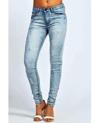 Boohoo Rebecca Ripped Washed Skinny Jeans