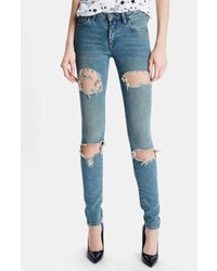 Saint Laurent Dirty 50s Destroyed Skinny Jeans
