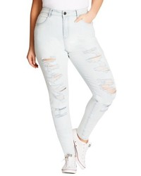 City Chic Distressed Skinny Jeans