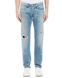 3x1 Distressed Slim Fit Selvedge Jeans Blue Size 30