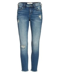 Frayed hem ripped ankle jeans medium 8680005