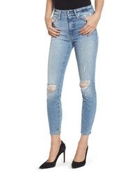 Good American Good Legs Ripped Crop Skinny Jeans