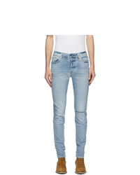 Amiri Indigo Denim Slit Knee Jeans