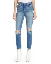 Grlfrnd Karolina Ripped High Waist Skinny Jeans