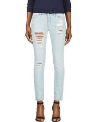 IRO Light Blue Ripped Garon Jeans