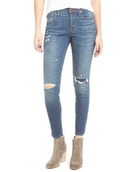 Madewell High Rise Skinny Jeans Ripped Patched Edition