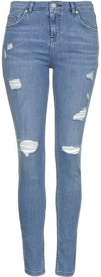 a1d4721c140 ... Light Blue Ripped Skinny Jeans Topshop Moto Bleach Authentic Ripped  Jeans ...