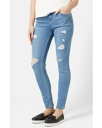 Topshop Moto High Rise Ripped Jeans