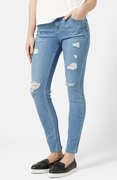 new lifestyle large discount premium selection $85, Topshop Moto High Rise Ripped Jeans