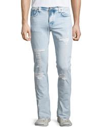 Nudie grim tim distressed denim jeans light blue medium 348874