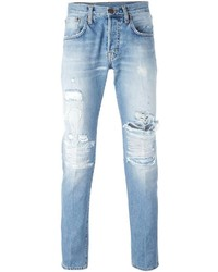 (+) People People Distressed Skinny Jeans