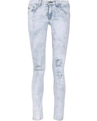 Rag and Bone Rag Bone Distressed Mid Rise Skinny Jeans