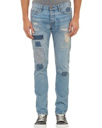 NSF Ripped Repaired Jeans Blue Size 34w