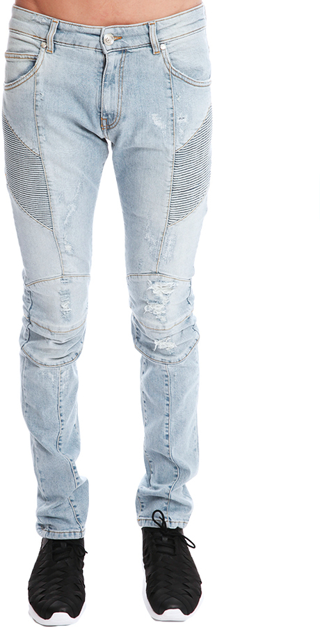 Blue Moto Skinny Jeans Balmain With Mastercard Sale Online Sale Get Authentic Buy Cheap How Much From China Footlocker Online whbsRBCchu