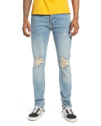 Topman Ripped Stretch Skinny Jeans