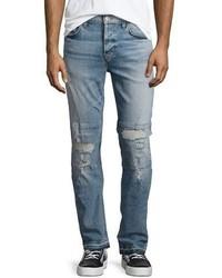 Sartor slouchy distressed skinny jeans intent blue medium 4983061
