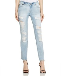 Noisy May Scarlet Destroyed Skinny Jeans In Light Blue