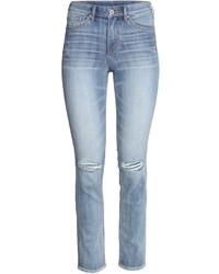 H&M Slim Regular Ankle Jeans Dark Gray Ladies