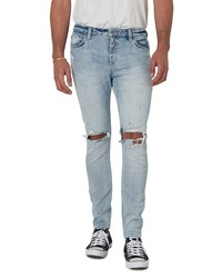 ROLLA'S Stinger Bleach Rip Skinny Fit Jeans