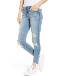 SWAT FAME Sts Blue Emma Ripped Ankle Skinny Jeans