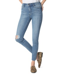 Sam Edelman The Stiletto Ripped High Waist Ankle Skinny Jeans