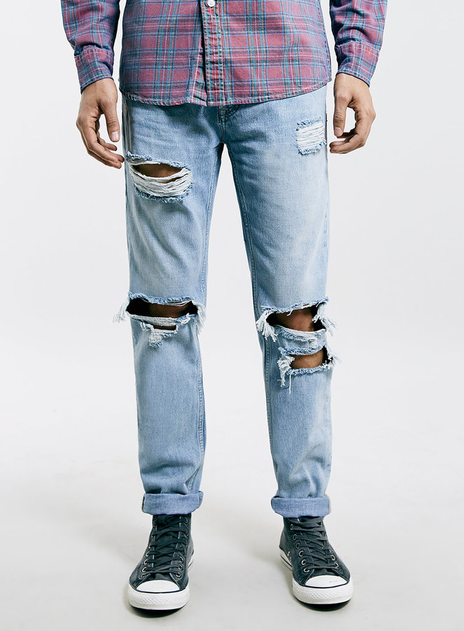 Topman Light Wash Ripped Skinny Fit Jeans | Where to buy & how to wear