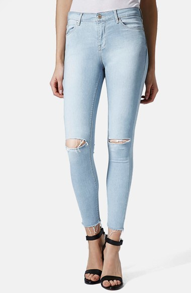 Topshop Leigh Distressed Skinny Jeans | Where to buy & how to wear