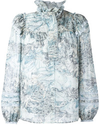 Marc Jacobs Ruffle Collar Blouse