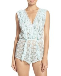 Betsey Johnson Ruffle Lace Romper
