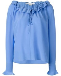 Stella McCartney Ruffled Neck Fastening Blouse