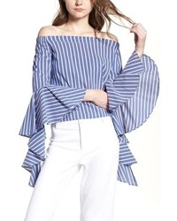 BISHOP AND YOUNG Bishop Young Gigi Ruffle Sleeve Off The Shoulder Top