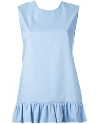 Light Blue Ruffle Tank