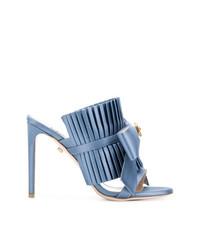 Fausto Puglisi Pleated Bow Stiletto Sandals