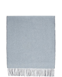 Won Hundred Blue And Grey Wool Vanessa Doubled Scarf