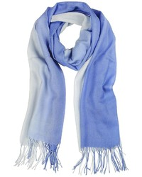 Mila Schon Gradient Bluelight Blue Wool And Cashmere Stole