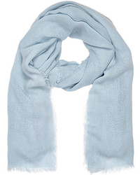 River Island Light Blue Gauze Laddered Scarf
