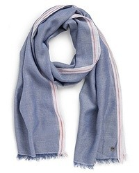 Hugo Boss Nesum Cotton Linen Scarf Lightpastel Blue