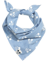 H&M Patterned Scarf Bluemickey Mouse Kids