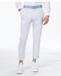 Seersucker slim fit cropped pants created for macys medium 3774002