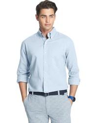 Light Blue Seersucker Long Sleeve Shirts for Men  004100c01