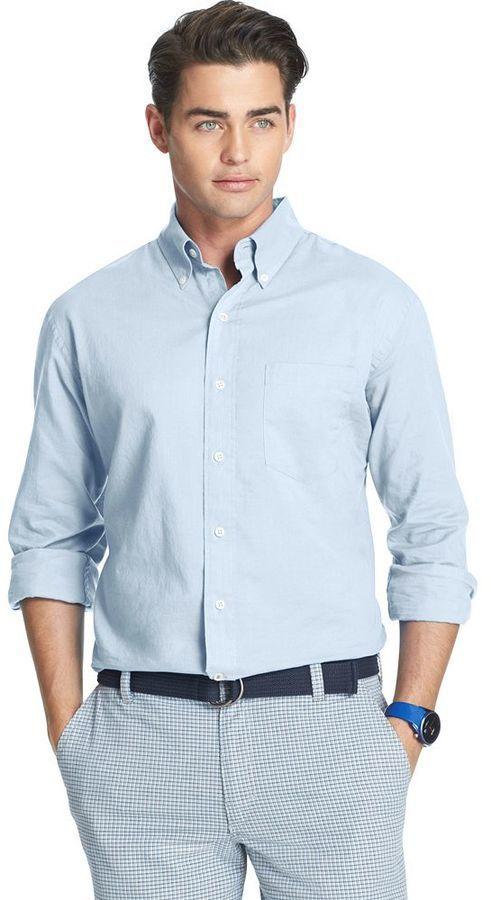 a9a87d3cc09 Izod Seersucker Casual Button Down Shirt …