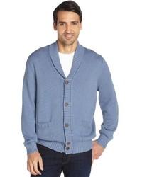 Beige cotton shawl collar button front cardigan medium 145453