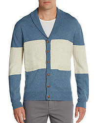 Kuroshio colorblock cotton linen cardigan medium 285121