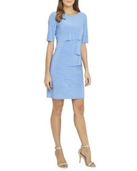 Petite tiered jersey sheath dress medium 516867