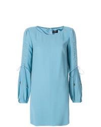 Elisabetta Franchi Lace Up Sleeve Dress