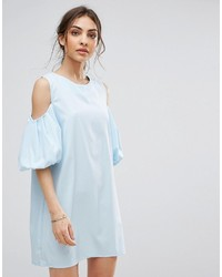 Boohoo Shift Dress With Volumnous Sleeves
