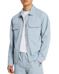 River Island Drape Laundry Stretch Cotton Shirt Jacket