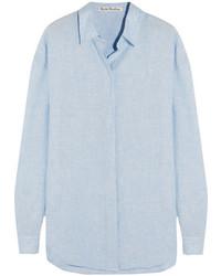 Acne Studios Bela Slub Linen Shirt Sky Blue